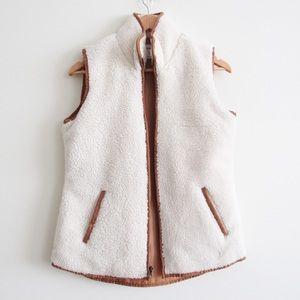 Old Navy Cream Sherpa Vest